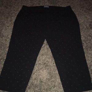 Old Navy size 18 Harper pants black w/ anchors